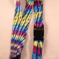 Dark Tye Dye -Neck Lanyard Id-key Holder