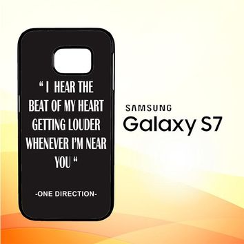One Direction Lyrics R0263 Samsung Galaxy S7 Case