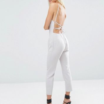 ASOS Jumpsuit with Keyhole Plunge Detail at asos.com