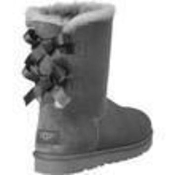 PEAP UGG:: bow leather boots boots in tube Black