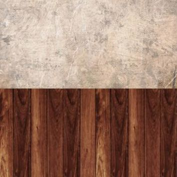 DISTRESS PAPER TEXTURED CINNAMON WOOD SWITCHOVER VINYL BACKDROP - 6x16 - LCCRS118 - LAST CALL