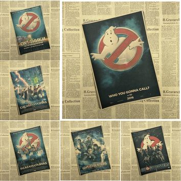 Ghostbusters Classic Movie Kraft Paper Poster Bar Cafe Living Room Dining room Wall Decorative Paintings