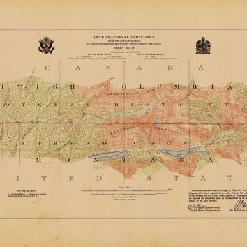 International Boundary, From The Gulf Of Georgia To The Northwestern Point Of The Lake To The Woods, Sheet No. 19