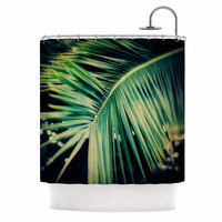 "Angie Turner ""Palm Frond"" Green Nature Shower Curtain"
