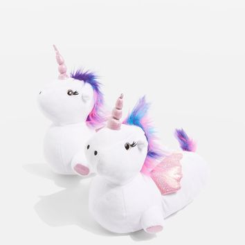 LUNA Unicorn Slippers | Topshop