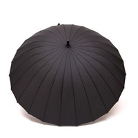 Hot selling 24 Bone Umbrella Man Women Long-handled Manually Windproof Outdoor Big Sunny Rain Umbrella