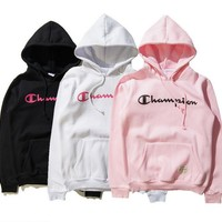 Champion Couple Casual Hoodie Top Sweater Sweat Shirt