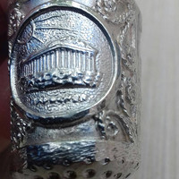 Thimble Sterling Silver Vintage Thimble,Hand Sewing Notion,Accessory for Darning, Embroidery. Pantheon Acropolis