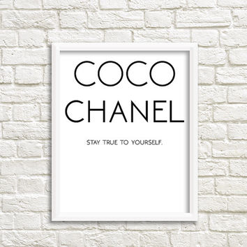 coco chanel party favors Guest Bathroom artwork Printable Quotes printable women gift Printable poster bedroom wall art bedroom wall decal