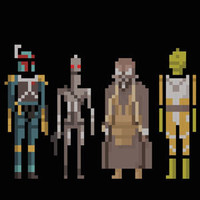 Star Wars Bounty Hunters Pixelated