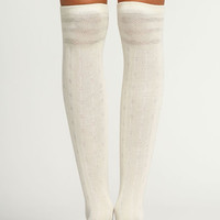 WHITE KNEE HIGH SOCKS