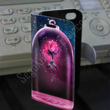 Rose Beauty and The Beast Leather Folio Case for iPhone and Samsung Galaxy