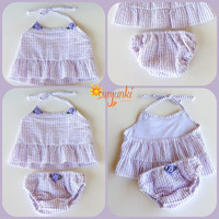 Baby Girl Swimsuit Infant Baby Bikini Summer Wear Girl Summer Suit Baby Beachwear Pale Lavender Bikini