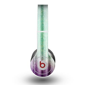The Green and Purple Dyed Textile Skin for the Beats by Dre Original Solo-Solo HD Headphones