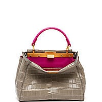Fendi - Peekaboo Mini Bicolor Crocodile Satchel - Saks Fifth Avenue Mobile