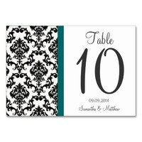VINTAGE 1920's ART DECO DAMASK TABLE NUMBERS