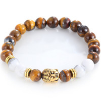 2016 New Arrival Natural Stone Buddha Bracelets Anchor bracelet men Skull Bracelets For Women Men Fashion Jewelry Agate Bracelet