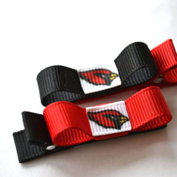 Arizona Cardinals Hair Clips - Toddler Hair Clips - AZ Cardinals Bows - AZ Cardinals Stocking Stuffer