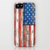 USA Wood iPhone Case by Maximilian San