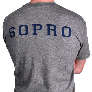 SOPRO Tee in Grey by Southern Proper