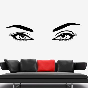 Wall Vinyl Decal Sexy Eyes Bedroom Romantic Decor Unique Gift z3744