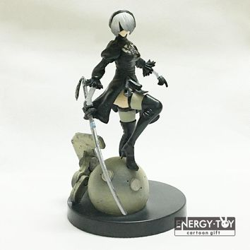"Anime YoRHa No. 2 Type B NieR Automata 6"" pvc action figure doll model toy cool girl"