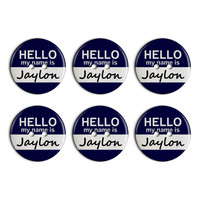 Jaylon Hello My Name Is Plastic Resin Button Set of 6