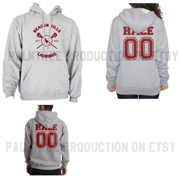 Hale 00 Beacon Hills Lacrosse Teen Wolf Unisex Hoodie S to 3XL Heather Grey