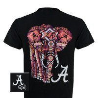 Alabama T-Shirt: AL World Pattern (Short Sleeve) Alabama T-Shirt: AL World Pattern (Short Sleeve) : Girlie Girl™ Originals - Great T-Shirts for Girlie Girls!