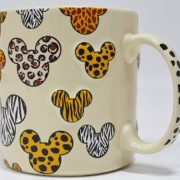 Disney Safari Animal Print Embossed/3-D Coffee/Hot Cocoa/Tea Mug - Disney Parks Exclusive & Limited Availability