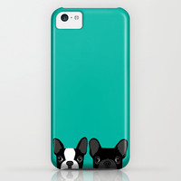 Boston Terrier and French Bulldog iPhone & iPod Case by Anne Was Here