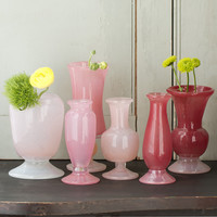 Frosted Rose Vase Collection