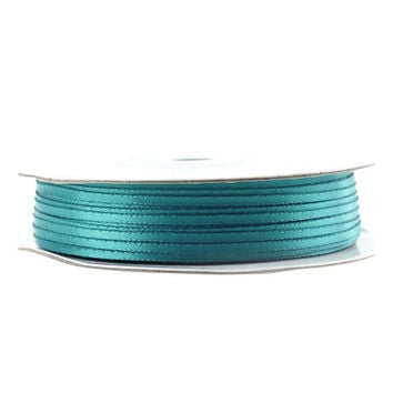 Double Faced Satin Ribbon, 1/16-inch, 100-yard, Turquoise