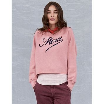 Merci Cutoff Sweatshirt