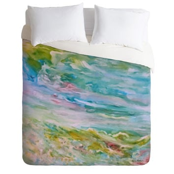 Rosie Brown Reflections In Watercolor Duvet Cover