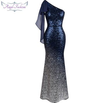 Exquisitely Chic Ombre Sequin Mermaid Evening Dress