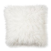 Xhilaration® Mongolian Fur Decorative Pillow - Cream (Square