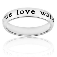 Stainless Steel 'True Love Waits' Ring (4.5 mm) - Sizes 4-13