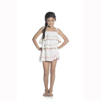 Ondademar Girls Short Dress Resortwear