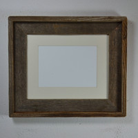 8x10 earth friendly wood frame complete with 5x7 or 8x6 off white mat