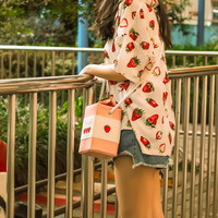 MSMO Strawberry Milk Bag Super Cute Milk Box Embroidery Strawberry Banana Cool Messenger Bag Soft Sister Milk Bag-in Shoulder Bags from Luggage & Bags on Aliexpress.com | Alibaba Group