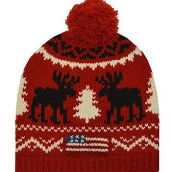 Polo Ralph Lauren Men's Reindeer Wool Hat (One size, Red)