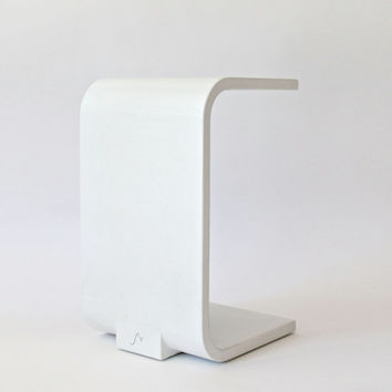 White Concrete Side Table - Modern and Minimal