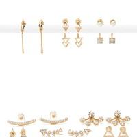 Rhinestone Ear Jacket Set