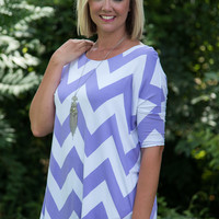 Saturday Is For Chevron Comfort - Lavendar