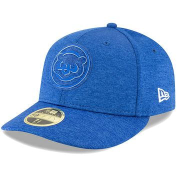 Men's Chicago Cubs New Era Royal 2018 Clubhouse Collection Low Profile 59FIFTY Fitted Hat