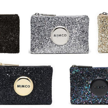 WITH DEFECT MIMCO SPARKS SMALL POUCH 5 COLOR COMBO SALE