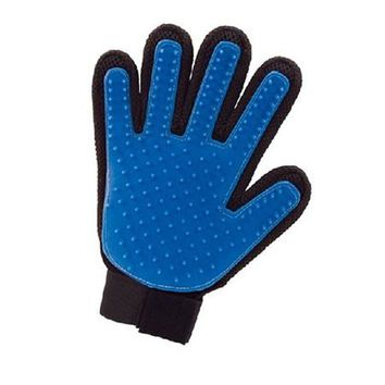 True Touch Deshedding Brush Glove Pet Dog Cat Gentle Efficient Massage Grooming or For Pet Washing  Gloves Goods for Pets