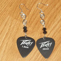 Guitar Pick Earrings by trevor4995 on Etsy
