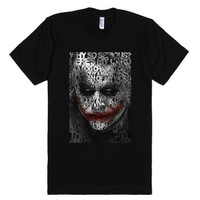 Halloween Joker Clown Typograph tee tshirt-Unisex Black T-Shirt